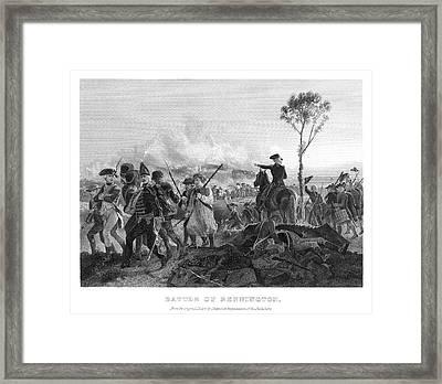 Battle Of Bennington, 1777 Framed Print