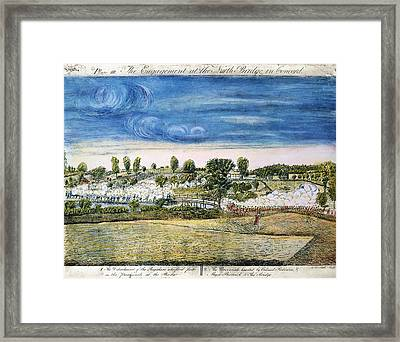 Battle Of Concord, 1775 Framed Print