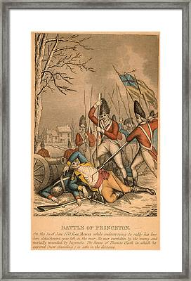 Battle Of Princeton, 1777 Framed Print by Granger