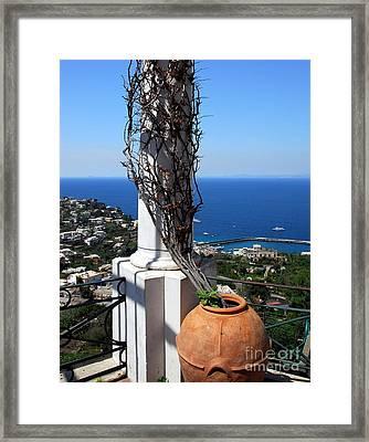 Bay Of Naples Framed Print by Mel Steinhauer