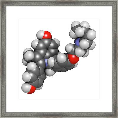 Bazedoxifene Osteoporosis Drug Molecule Framed Print