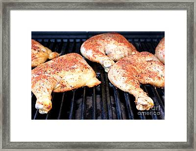 Bbq Chicken Framed Print by Henrik Lehnerer