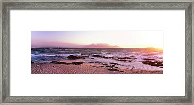 Beach At Sunset, Blouberg Beach, Cape Framed Print by Panoramic Images