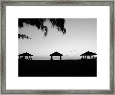 Framed Print featuring the photograph Beach Huts by Amar Sheow