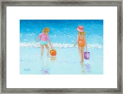 At The Seaside Framed Print