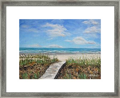 Beach Walkway Framed Print