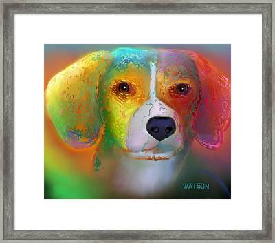 Beagle Framed Print by Marlene Watson