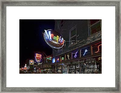 Beale Street Framed Print