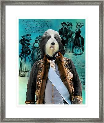 Bearded Collie Art Canvas Print Framed Print