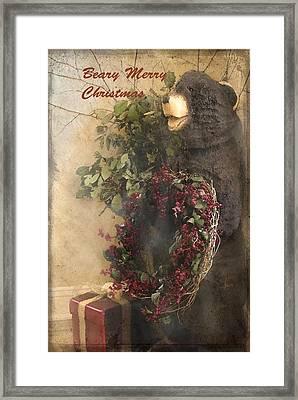 Beary Merry Christmas Framed Print by Cindy Rubin