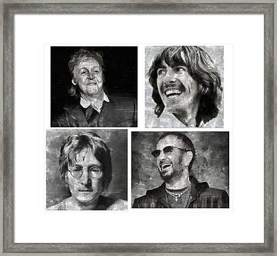 Beatles Framed Print by Galeria Zullian  Trompiz