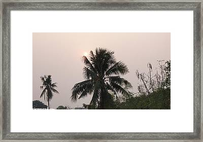 Beautiful Evening Framed Print by Gornganogphatchara Kalapun