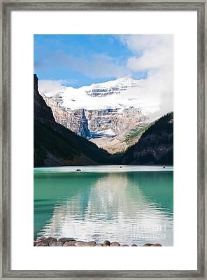 Beautiful Lake Louise Framed Print by Cheryl Baxter