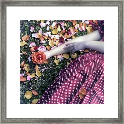 Bedded In Petals Framed Print