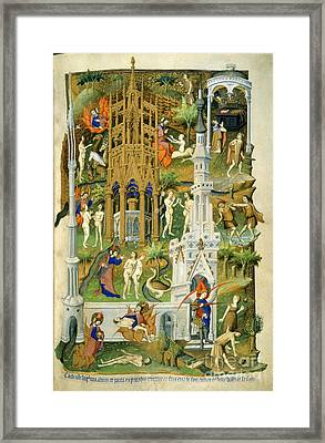 Bedford Hours Framed Print by British Library