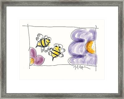 2 Bee Or Not To Bee Framed Print by Jason Nicholas