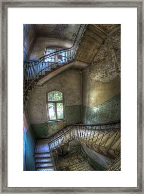 Beelitz Stairs  Framed Print by Nathan Wright