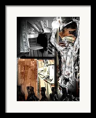 Angels Smoking Mixed Media Framed Prints