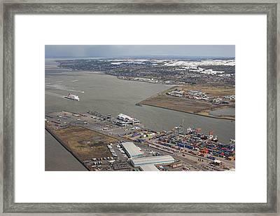 Belfast City & Docks Framed Print by Colin Bailie