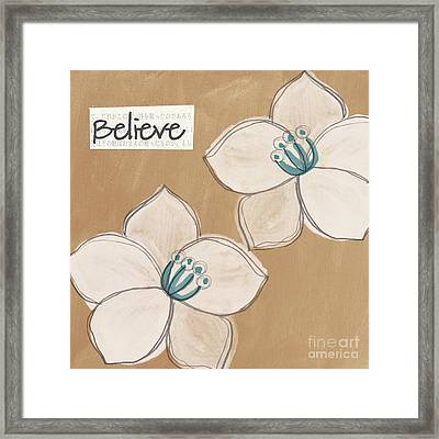 Believe Framed Print by Linda Woods