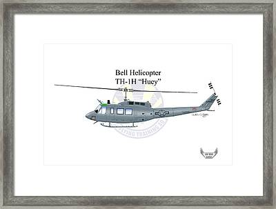Bell Helicopter Th-1h Huey Framed Print