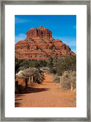 Bell Rock Framed Print by Randy Bayne