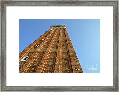 Bell Tower On San Marco Piazza Framed Print by Sami Sarkis