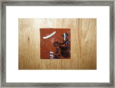 Bella - Tile Framed Print by Gloria Ssali