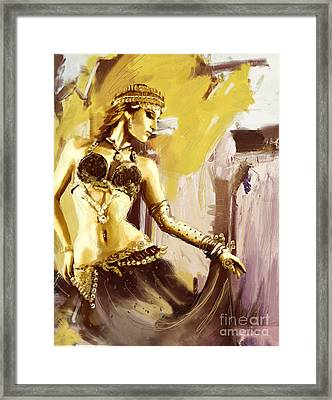Abstract Belly Dancer 18 Framed Print by Corporate Art Task Force