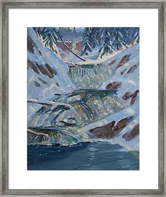 Framed Print featuring the painting Below Greylock by Len Stomski