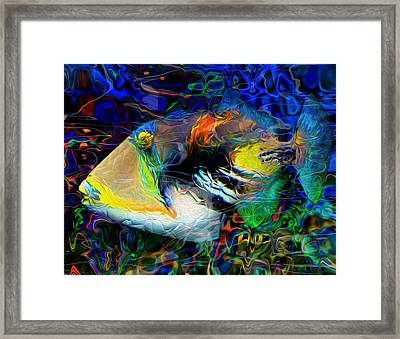 Below The Surface 4 Framed Print