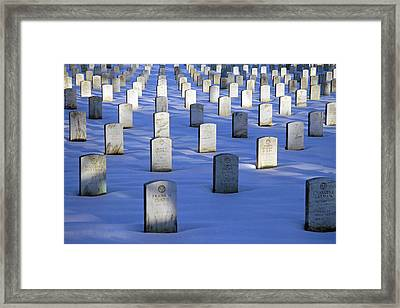 Framed Print featuring the photograph Beneath The Snow by Cora Wandel