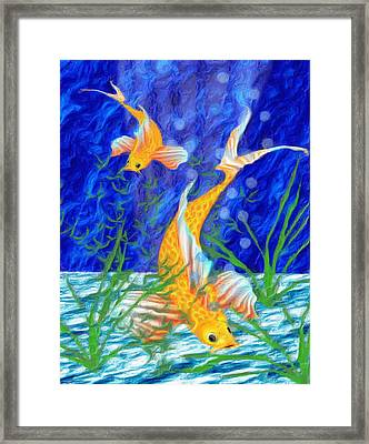 Beneath The Waves Framed Print