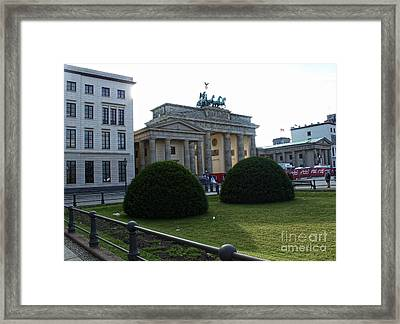 Berlin - Brandenburg Gate Framed Print by Gregory Dyer