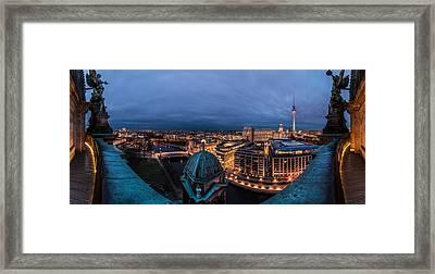 Berlin - Potsdamer Platz Blue Hour Framed Print