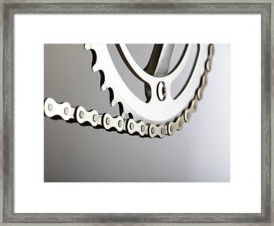 Bicycle Chain And Crank Framed Print