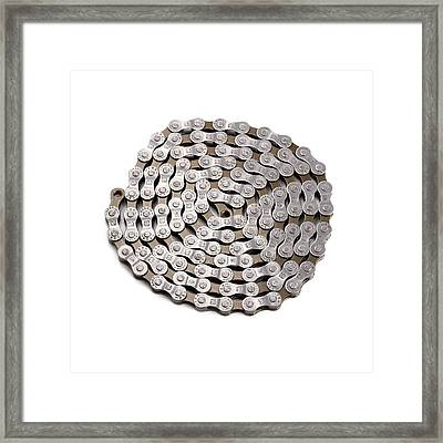 Bicycle Chain Framed Print