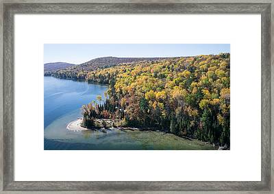 Big Cedar Lake. Quebec Framed Print by Rob Huntley