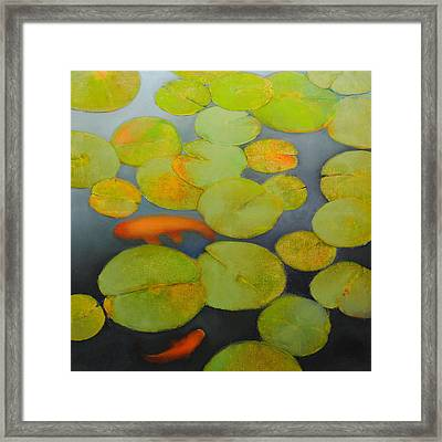 Framed Print featuring the painting Big Koi Sold by Cap Pannell