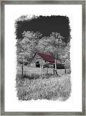 Big Red Framed Print by Debra and Dave Vanderlaan