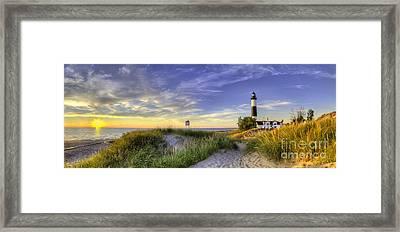 Big Sable Sunset Framed Print