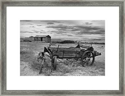 Bighorn Basin History Framed Print by Leland D Howard
