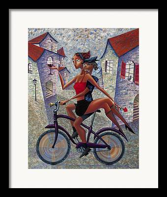 Biking Framed Prints