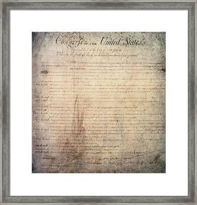Bill Of Rights, 1789 Framed Print