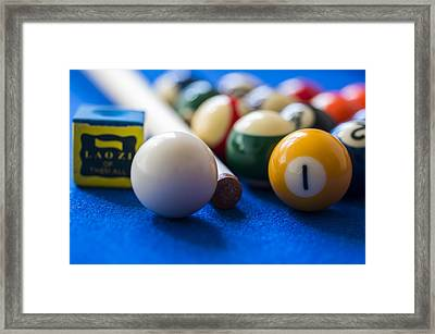Billiard Balls Framed Print