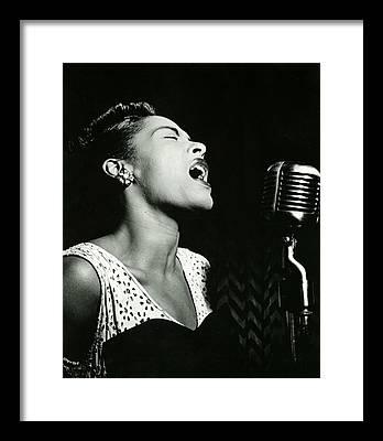 Singer Jazz Framed Prints