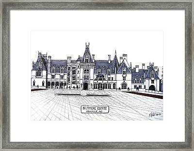 Biltmore Estate Framed Print by Frederic Kohli