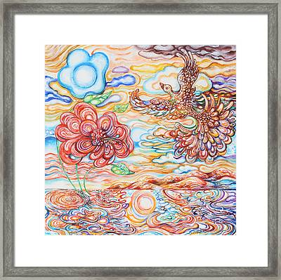 Bird In The Islands Framed Print by Susan Schiffer