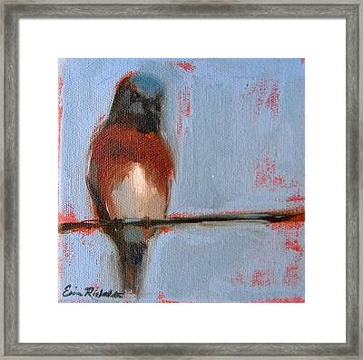 Bird On A Wire I Framed Print