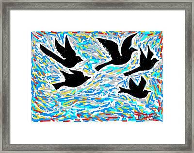 Birds In Flight Framed Print by Anand Swaroop Manchiraju
